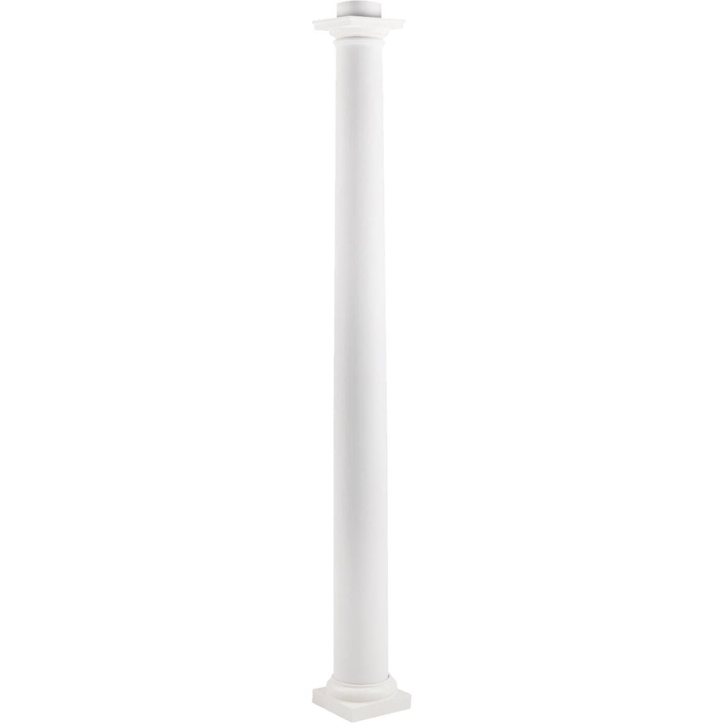 Crown Column Cap 9-1/2 In., Base 10-3/8 In. Unfinished Plastic Round Cap/Base Set Image 2