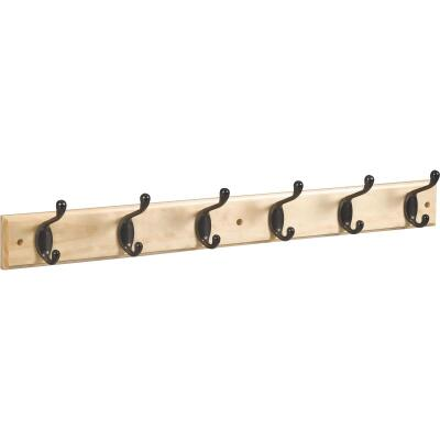 Stanley 27 In. Oil Rubbed Bronze/Natural Hook Rail