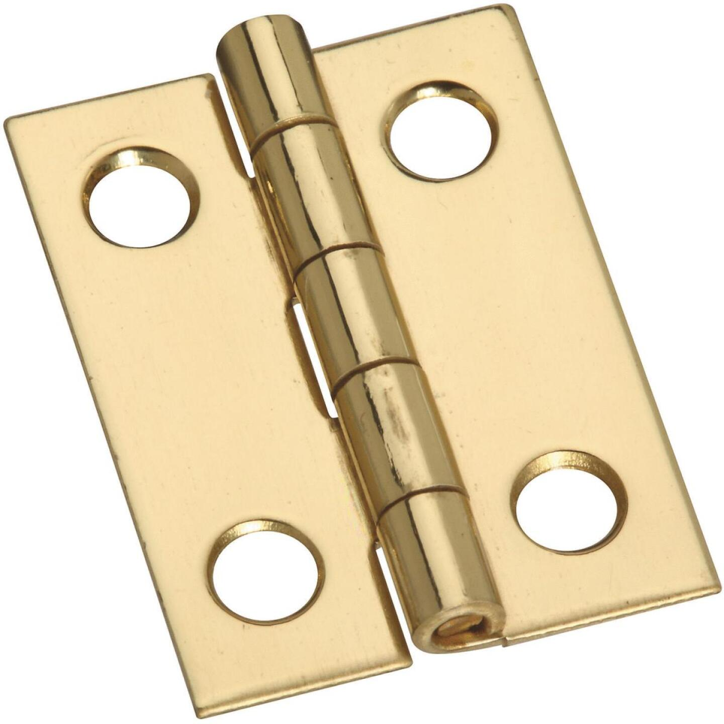 National 3/4 In. x 1 In. Narrow Brass Decorative Hinge (4-Pack) Image 1
