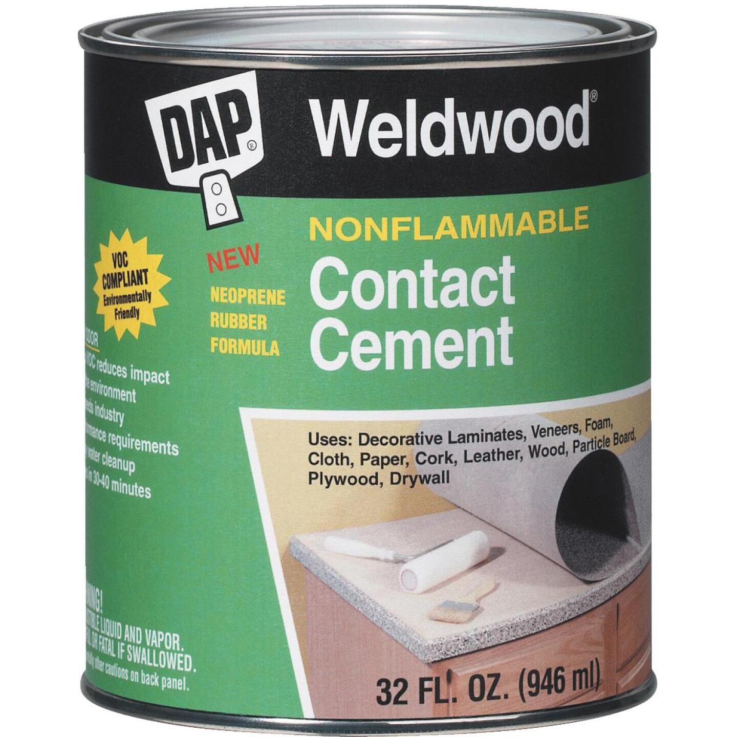 DAP Weldwood Qt. Nonflammable Contact Cement Image 1