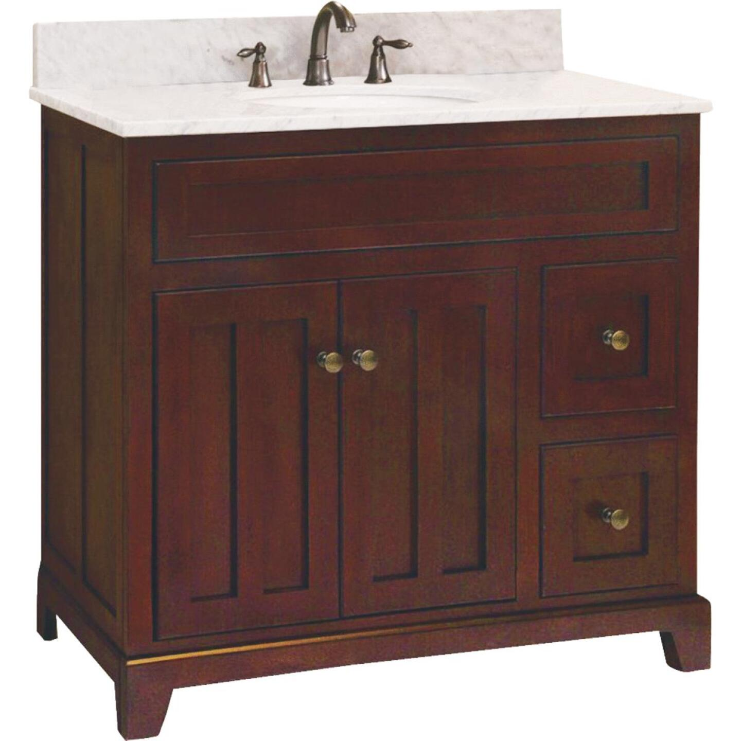 Sunny Wood Grand Haven Cherry 36 In. W x 34 In. H x 21 In. D Vanity Base, 2 Door/2 Drawer Image 1