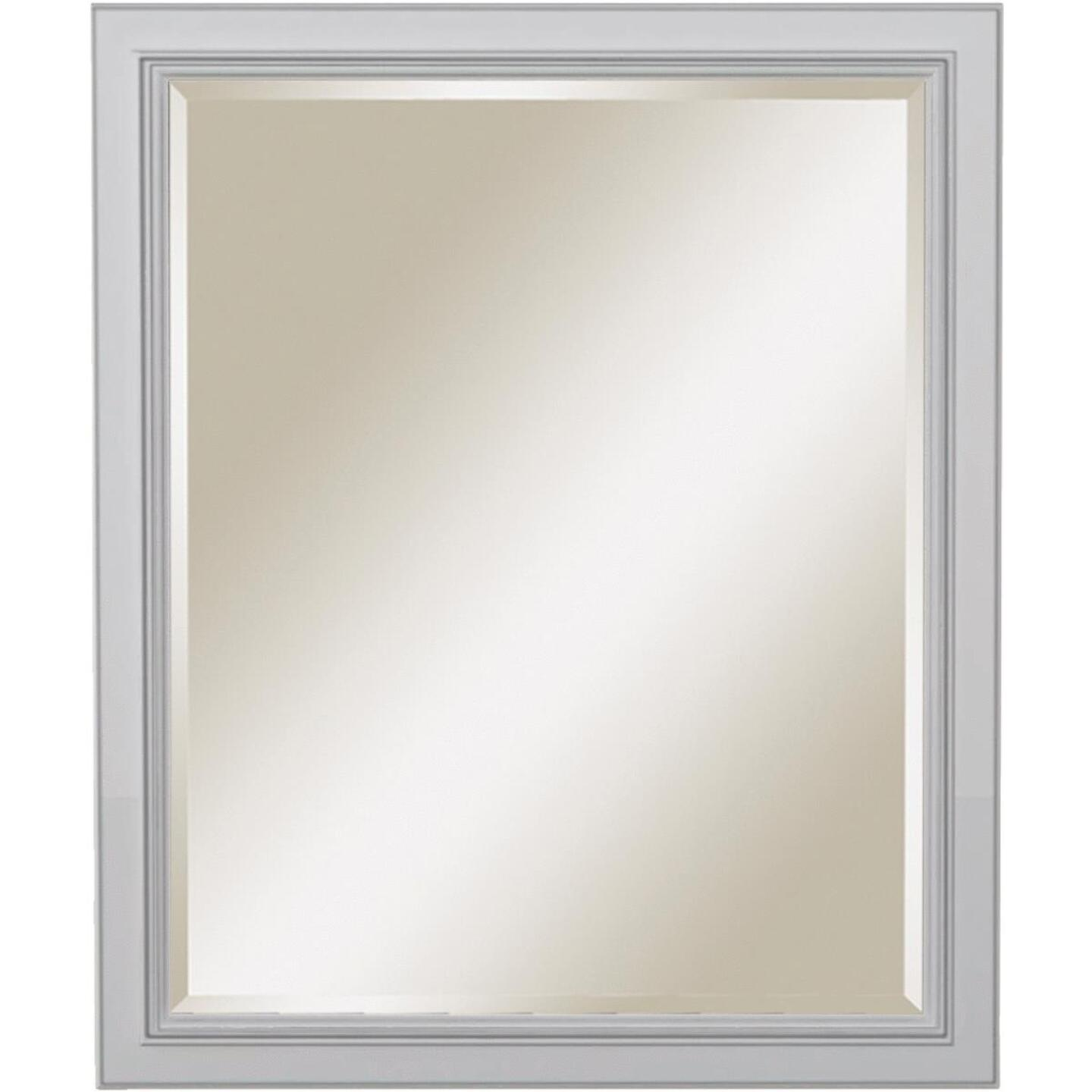 Sunny Wood Riley 30 In. W x 36 In. H Beveled Framed Mirror Image 1