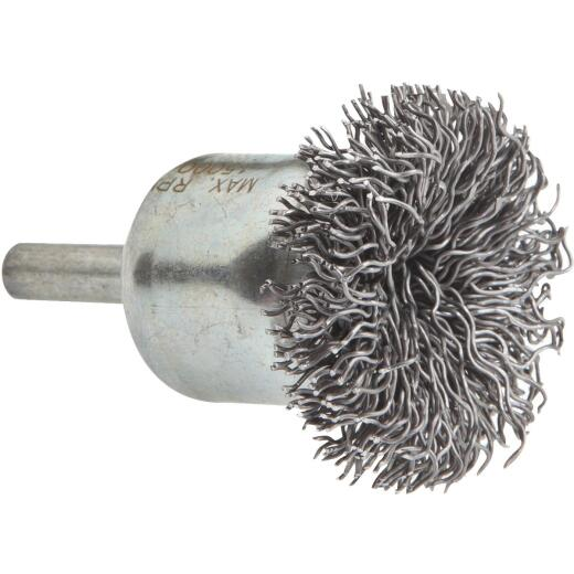 Forney 1-1/2 In. Hex .020 In. Drill-Mounted Wire Brush