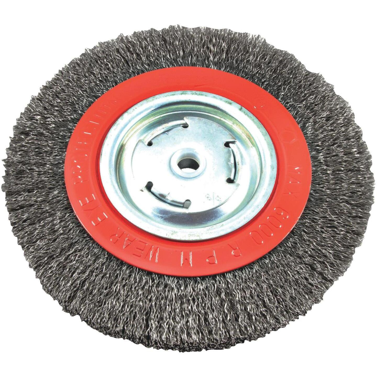 Forney 8 In. Crimped, Coarse .012 In. Bench Grinder Wire Wheel Image 1