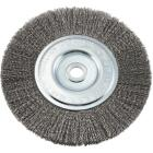 Forney 6 In. Crimped, Fine .008 In. Bench Grinder Wire Wheel Image 1