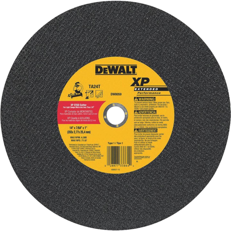 DeWalt 14 In. x 1 In. Type 1 Cut-Off Wheel Image 1