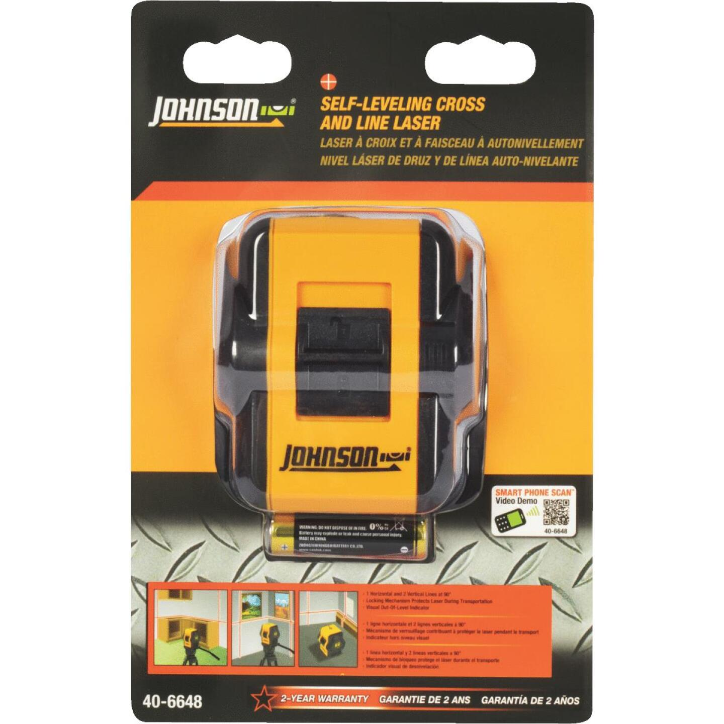 Johnson Level 50 Ft. Self-Leveling Cross-Line Laser Level Image 2