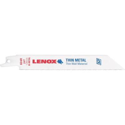 Lenox 6 In. 24 TPI Thin Metal Reciprocating Saw Blade (5-Pack)