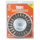 Weiler Vortec 6 In. Twisted, Coarse to 1/2 In. Bench Grinder Wire Wheel Image 2