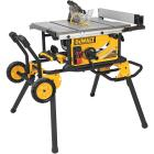 DeWalt 15A 10 In. Compact Job Site Table Saw with Rolling Stand Image 1