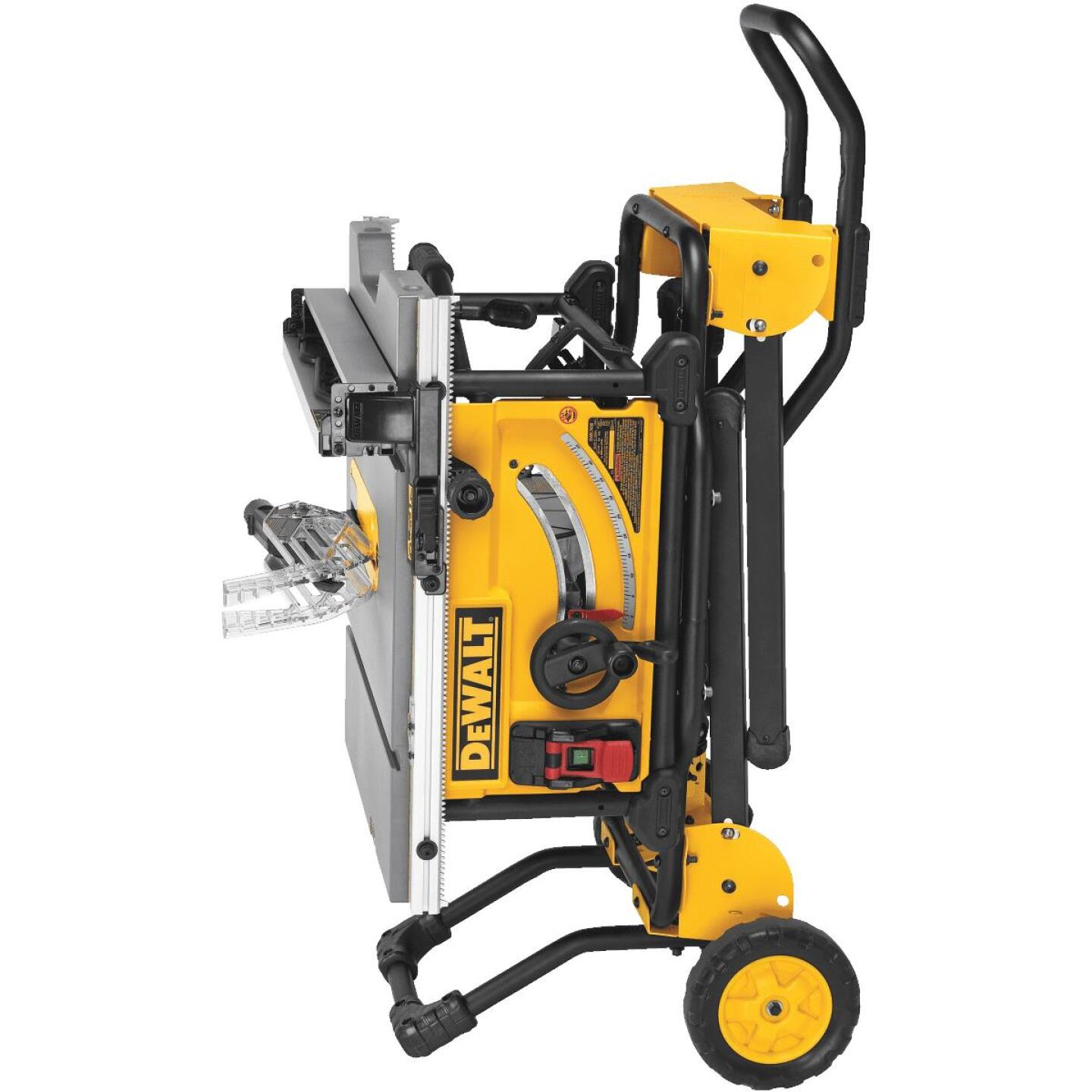 DeWalt 15A 10 In. Compact Job Site Table Saw with Rolling Stand Image 2
