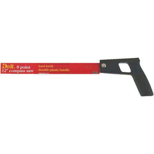 Do it 12 In. L. Blade 8 TPI Plastic Handle Compass Saw