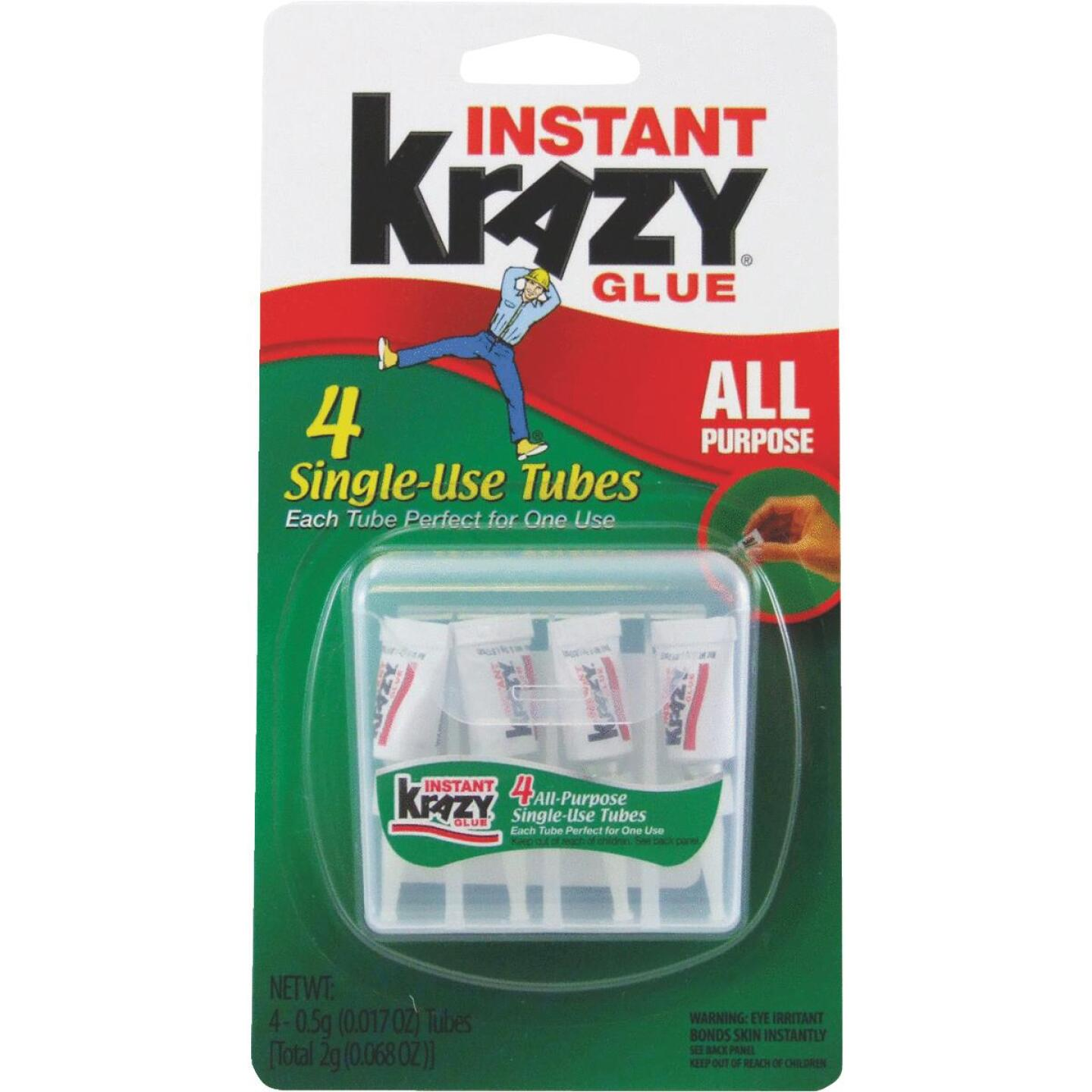Krazy Glue 0.02 Oz. Liquid Single Use All-Purpose Super Glue (4-Pack) Image 1