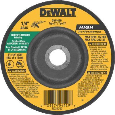 DeWalt HP Type 27, 4 In. Cut-Off Wheel