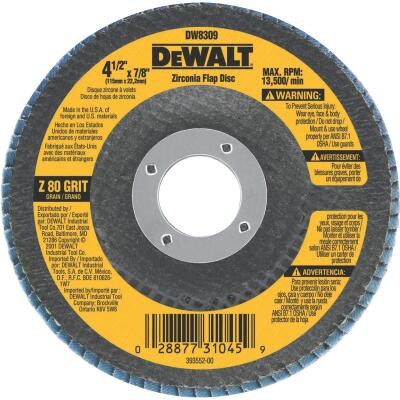 DeWalt 4-1/2 In. 80-Grit Type 29 High Performance Angle Grinder Flap Disc