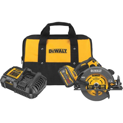 DeWalt Flexvolt 60 Volt MAX Lithium-Ion Brushless 7-1/4 In. Cordless Circular Saw w/Brake Kit