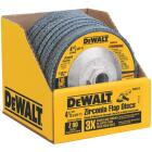 DeWalt 4-1/2 In. 80-Grit Type 29 High Performance Angle Grinder Flap Disc Image 1