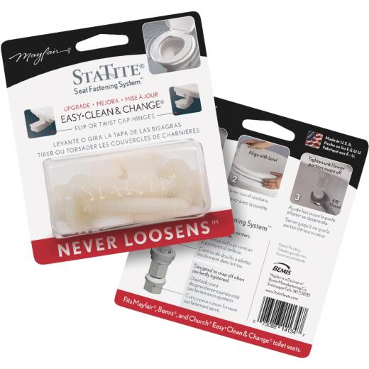 """Mayfair 3/4"""" x 2-1/2"""" Nylon Toilet Seat Bolt, Includes Nuts and Washers"""