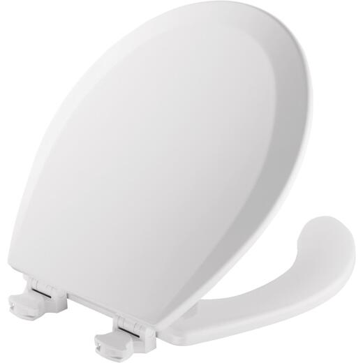 Mayfair Round Open Front White Toilet Seat with Cover