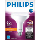 Philips Warm Glow 65W Equivalent Soft White BR40 Medium Dimmable LED Floodlight Light Bulb Image 2