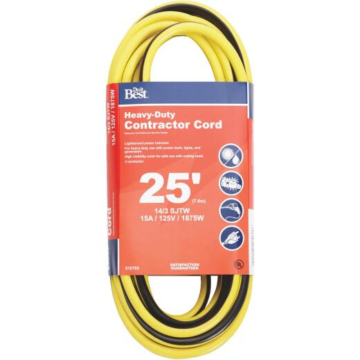 Do it Best 25 Ft. 14/3 Heavy-Duty Contractor Extension Cord