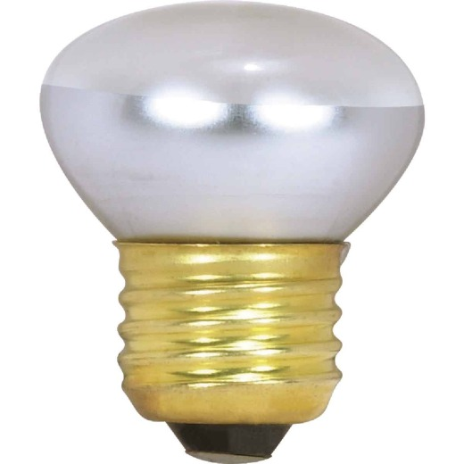Satco 25W Clear Medium Base R14 Stubby Reflector Incandescent Floodlight Light Bulb