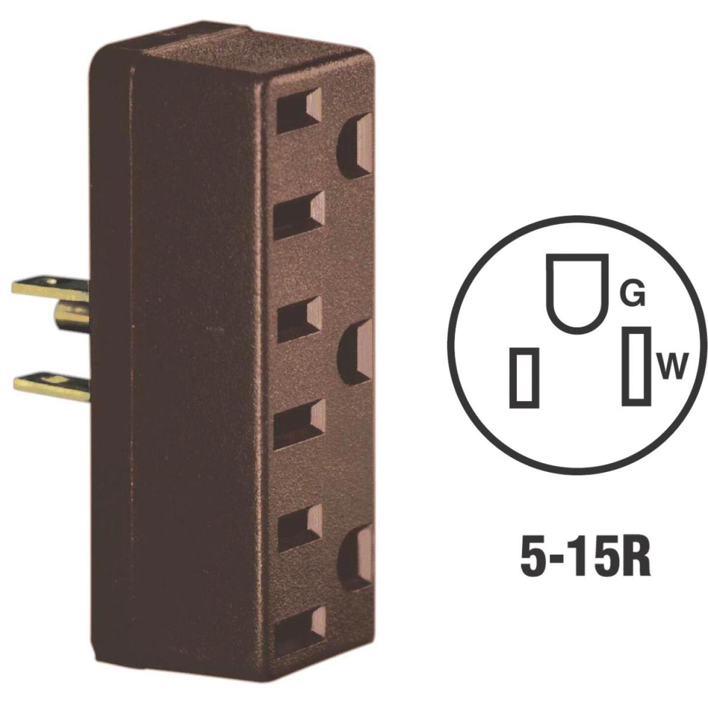 Leviton Brown 15A 3-Outlet Tap Image 1