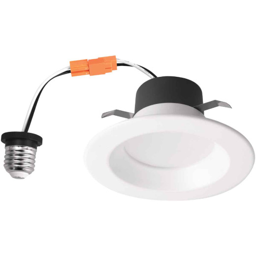 4 In. Retrofit IC Rated White LED CCT Tunable Down Light with Baffle Trim