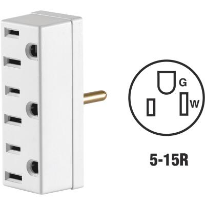 Leviton White 15A 3-Outlet Tap