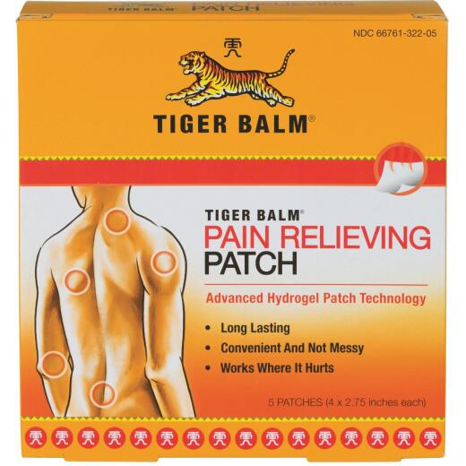 Tiger Balm Pain Relieving Patch (5 Count)