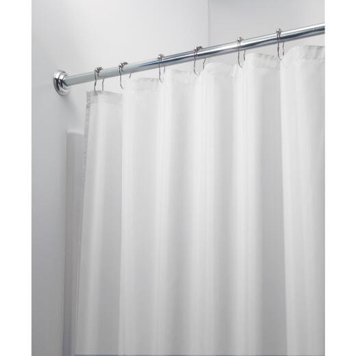 InterDesign 72 In. x 72 In. White Polyester Shower Curtain Liner