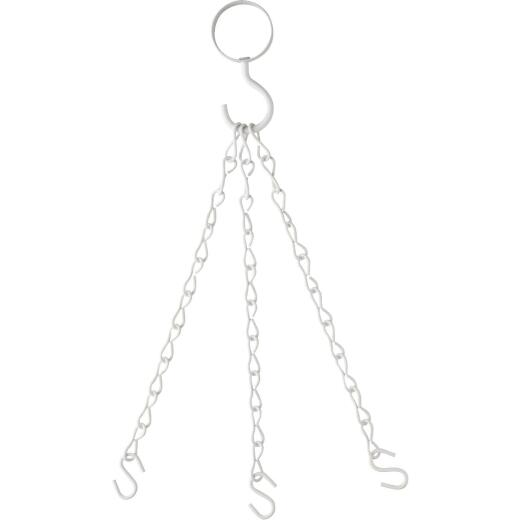 National V2661 18 In. White Steel Hanging Plant Extension Chain