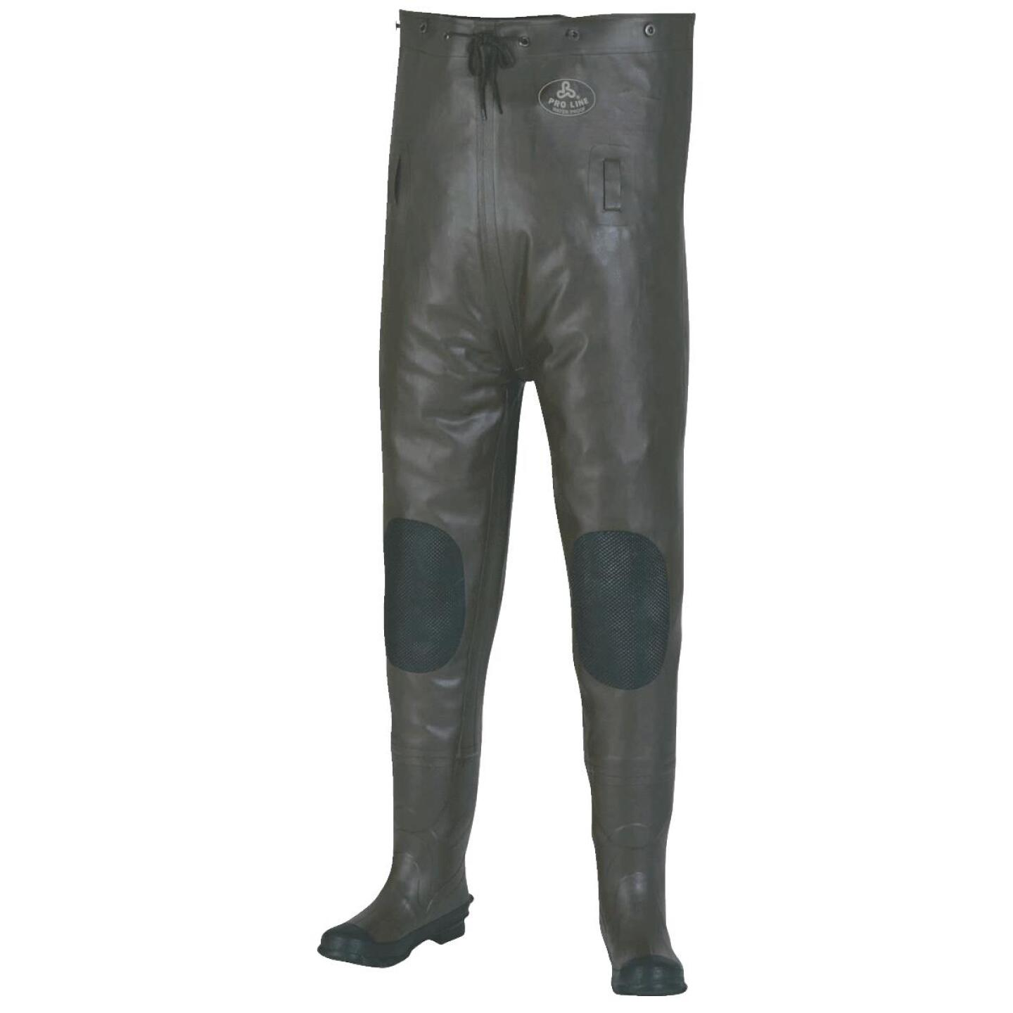 Pro Line Shoe Size 13 Gray Rubber Chest Waders Image 1