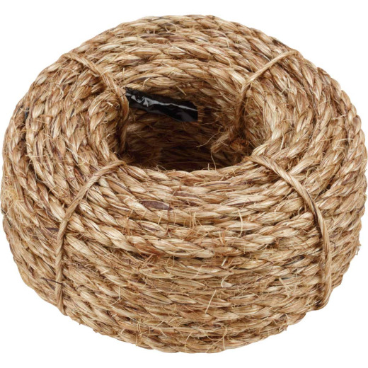 Do it 1/4 In. x 50 Ft. Natural Twisted Manila Fiber Packaged Rope
