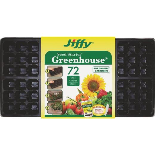 Jiffy 72-Cell Seed Starter Kit with Superthrive