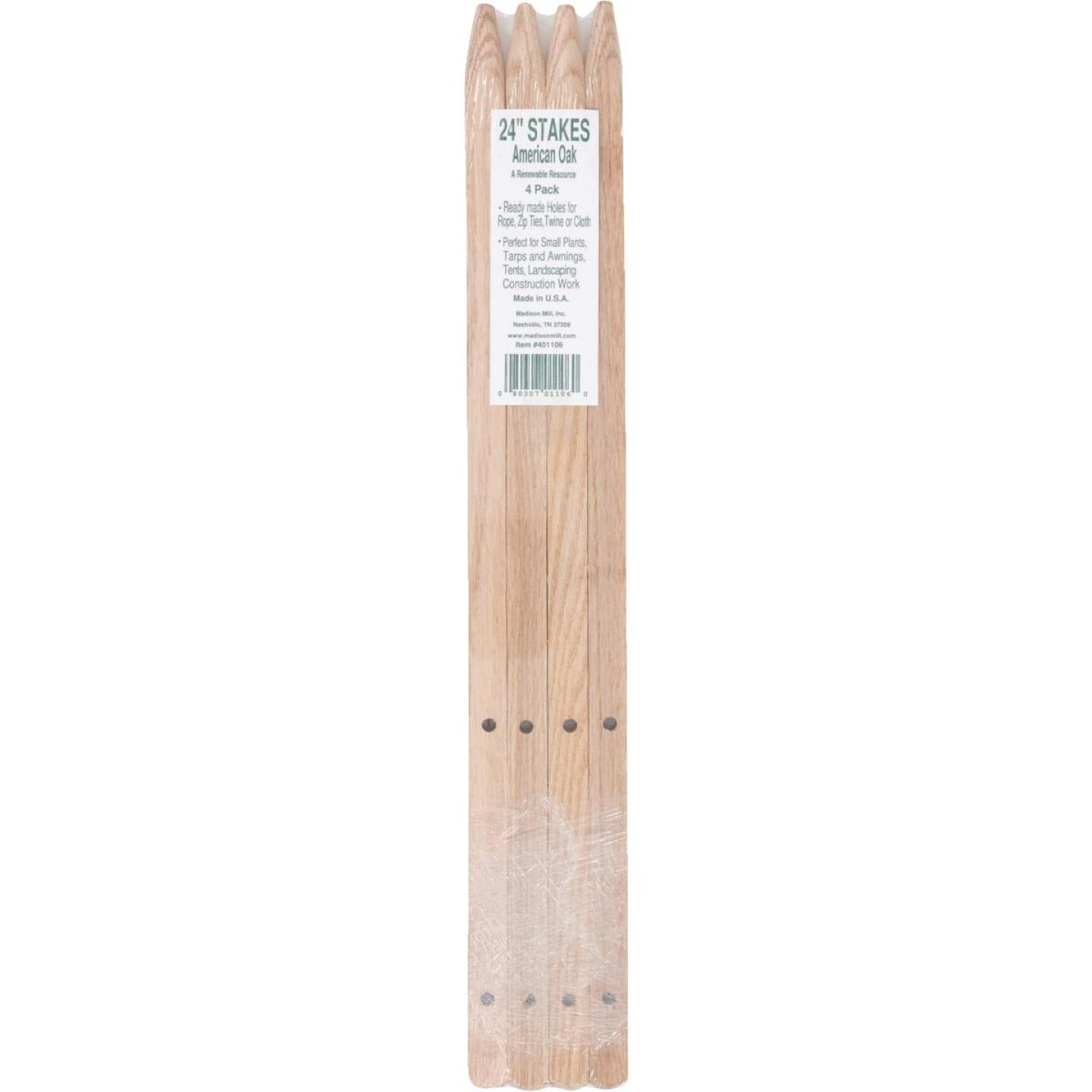 Madison Mill 24 In. Oak Wood Plant Stake (4-Pack) Image 2