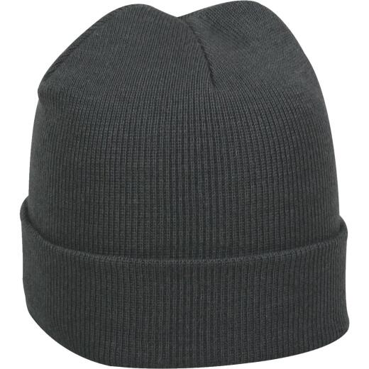 Outdoor Cap Charcoal Cuffed Wool Sock Cap