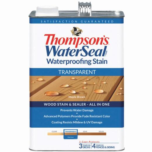 Thompsons WaterSeal Transparent Waterproofing Stain, Maple Brown, 1 Gal.