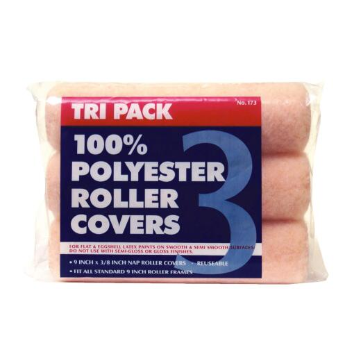 Premier 9 In. x 3/8 In. Polyester Knit Fabric Roller Cover (3-Pack)
