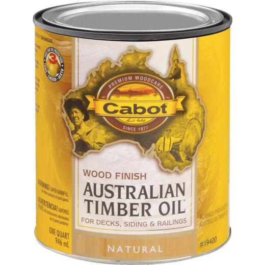 Cabot Australian Timber Oil Water Reducible Translucent Exterior Oil Finish, Natural, 1 Qt.