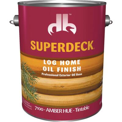 Duckback SUPERDECK VOC Translucent Log Home Oil Finish, Amber Hue, 1 Gal.