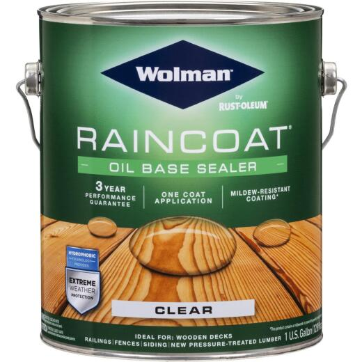 Wolman RainCoat One Coat Alkyd/Oil Base Clear Sealer, Clear, 1 Gal.