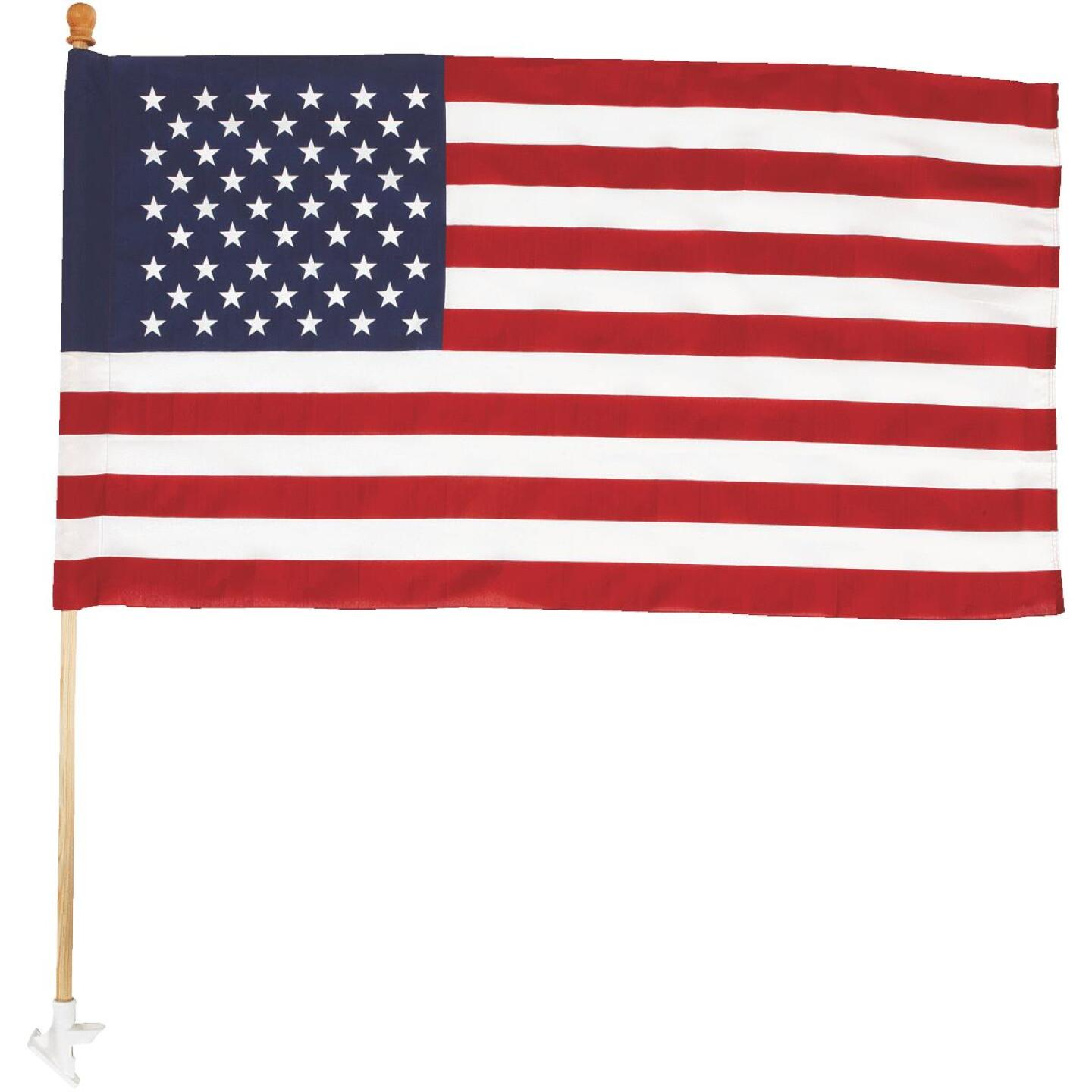 Valley Forge 2.5 Ft. x 4 Ft. Polycotton American Flag & 5 Ft. Pole Kit Image 2